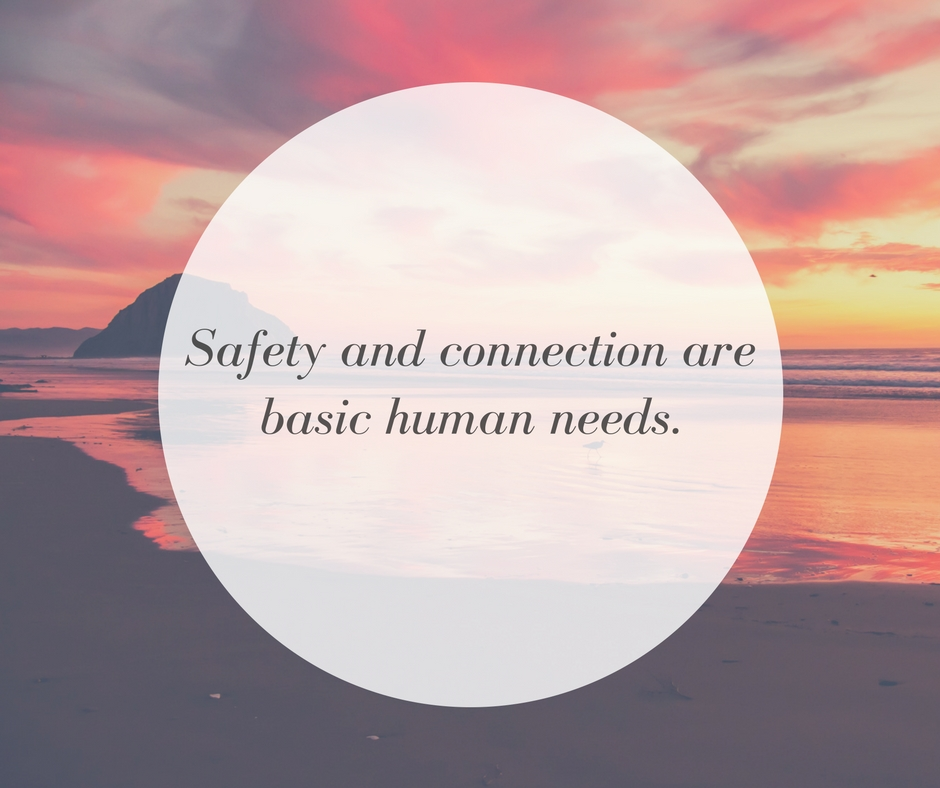 Safety and connection are basic human needs