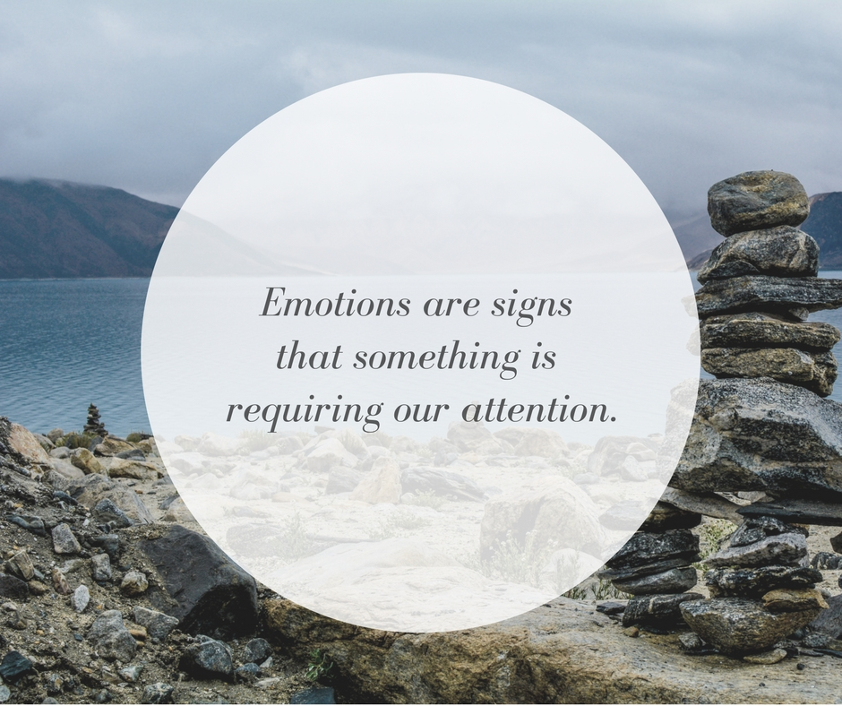 Emotions are signs that something is requiring our attention.